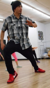 """""""Do it for the right reasons,"""" Montoya, 28, says of dance as a career. His hip-hop class on Feb. 12 was part of his teaching for the week. (Jaclyn Younger / CJ 375_001)"""
