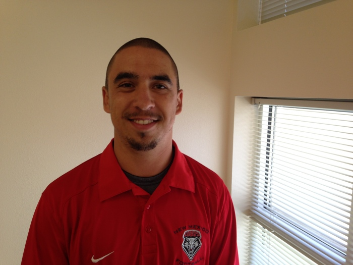After losing the lottery scholarship, Archuleta was still able to pursue his college education by becoming an equipment manager for the UNM Football Team.  Mychal Miltenberger/ CJ365